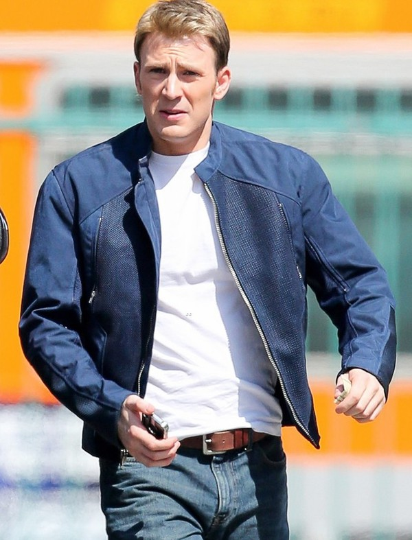 jacket lifestyle menswear captain america leather jacket chris evans mens jacket