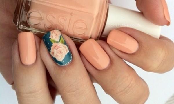 nail polish floral nail art