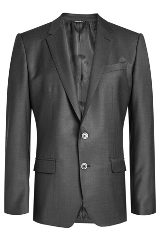 blazer silk wool grey jacket