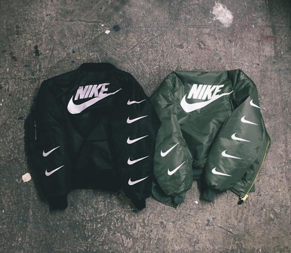 vintage jacket bomber jacket nike wear