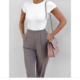 pants grey grey pants 2015 formal pleated pleated trousers