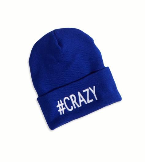Gorro de lana 'Crazy' AEO, Azul cobalto | American Eagle Outfitters