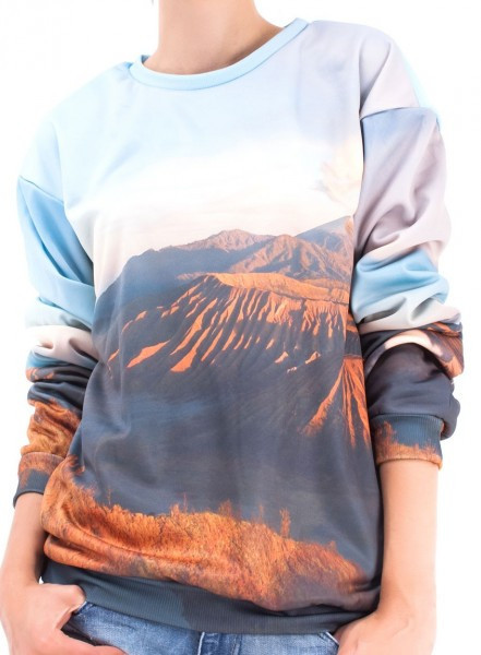 Go vulcan print sweater – glamzelle