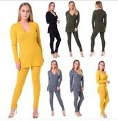 top,grey,leggings,side slit,tracksuit,yellow,black,khaki,black leggings,jumper,side split,sweatshirt