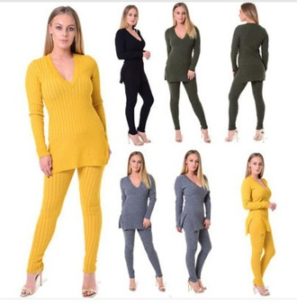 top grey leggings side slit tracksuit yellow black khaki black leggings jumper side split sweatshirt