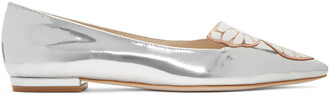 butterfly flats silver shoes
