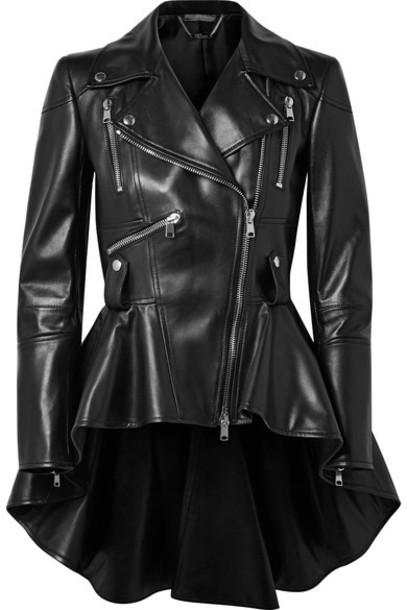 Alexander Mcqueen jacket biker jacket leather black