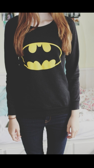 sweater batman black yellow cool shirts hipster blogger style
