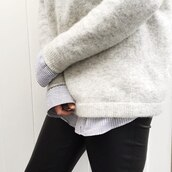 sweater,colorful,grey sweater,cashmere in style