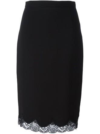 skirt lace black