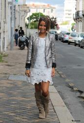 jacket,sequins,silver,sequin jacket