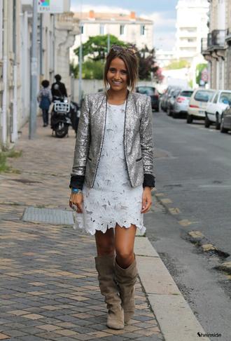 sequins silver jacket