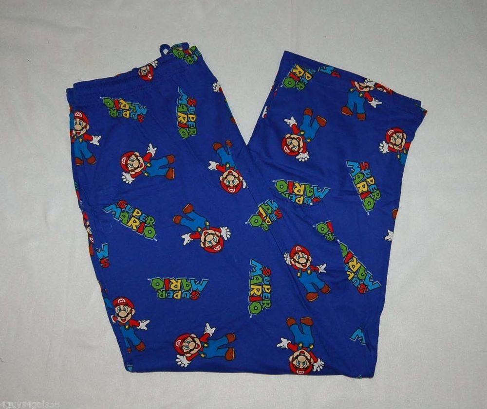 Mens Lounge Sleep Pants Super Mario Soft Cotton s 28 30 M 32 34 XL 40 42 | eBay