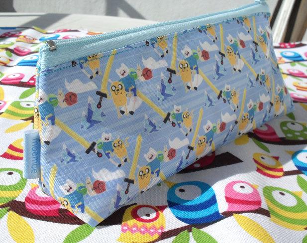Cute Adventure Time Pencil Case Zipper Pouch Bag Pen Box School Anime Finn Jake