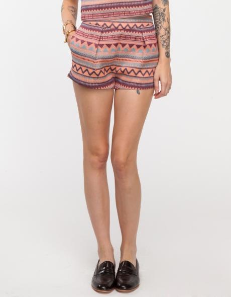 Native pink shorts