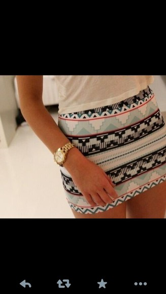 skirt aztec tribal skirt aztec lovely