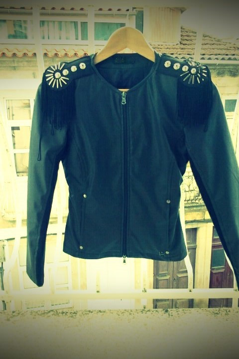 Faux leather black jacket perfecto size small by chicutopia