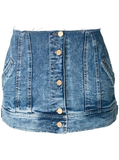 Natasha Zinko skirt peplum skirt cropped women cotton blue