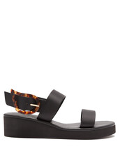 rainbow,sandals,wedge sandals,leather,black,shoes