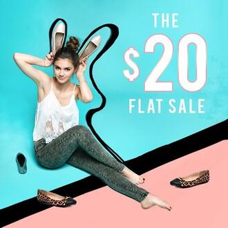 shoes qupid flats leopard print ballet flats zooshoo zooshoo shoes cap toe shoes