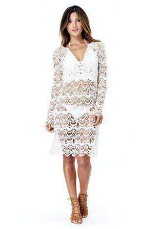 dress crochet beach lovestitch white dress hawaiian sexy dress trendy white rocky barnes new trending dress crochet dress coachella
