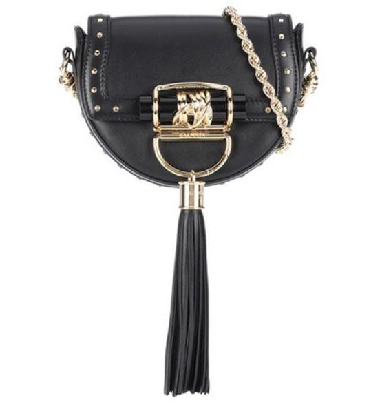 Balmain leather black bag