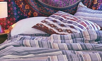 home accessory boho stripes hippie blanket bedding
