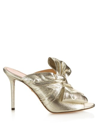 mules silver shoes