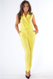 dress,ladies,belted,suit,yellow