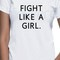 Fight like a girl tee awesome tshirt women and unisex adult