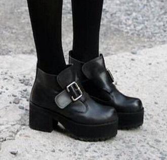 shoes platform shoes buckle