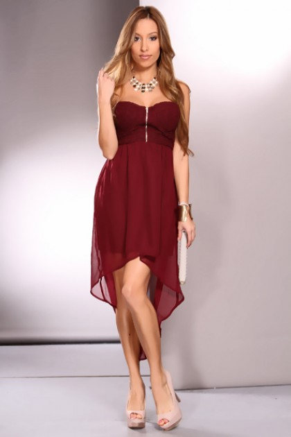 Burgundy Party Dresses
