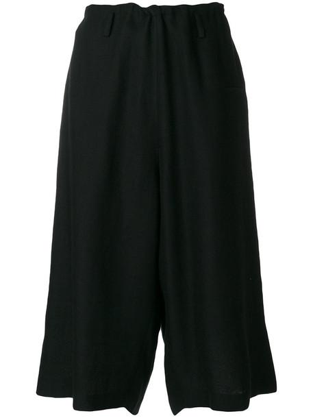 Y's culottes women black wool pants