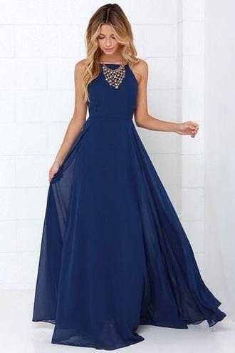dress long dress dark blue dark blue dress summer dress spaghetti strap blue dress maxi dress