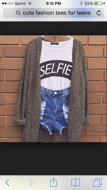 t-shirt coat shorts