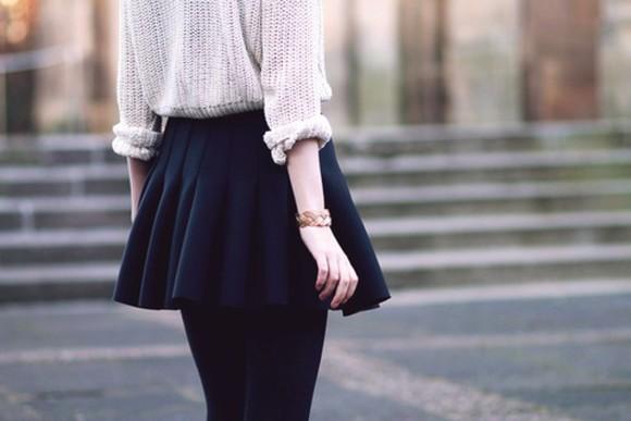 skirt navy skater skirt fall outfits