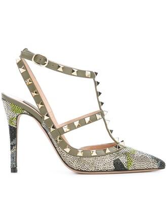 women pumps leather shoes