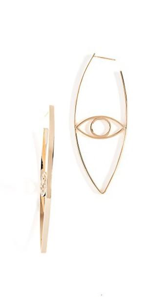earrings gold yellow jewels