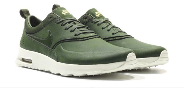 shoes green nike nike air max thea air max olive. Black Bedroom Furniture Sets. Home Design Ideas