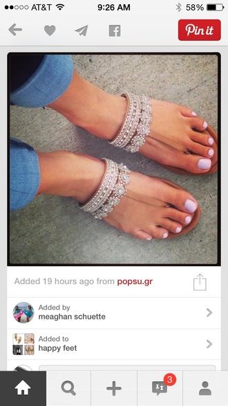 shoes sandals bling flip-flops aztec tribal pattern