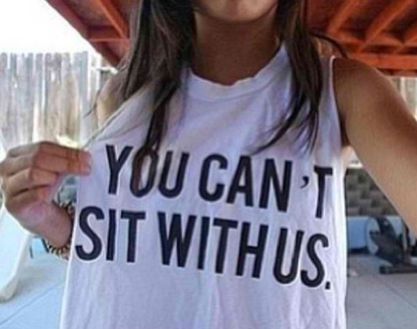 shirt you can't sit with us