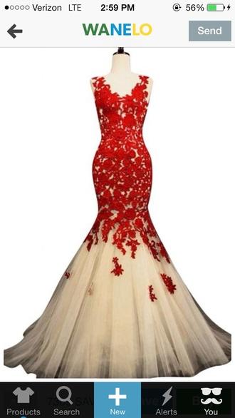 red dress prom prom dress mermaid prom dresses ivory dress
