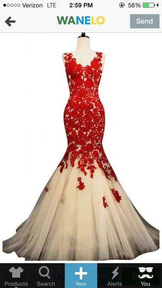 red dress prom prom dress mermaid prom dresses ivory dress