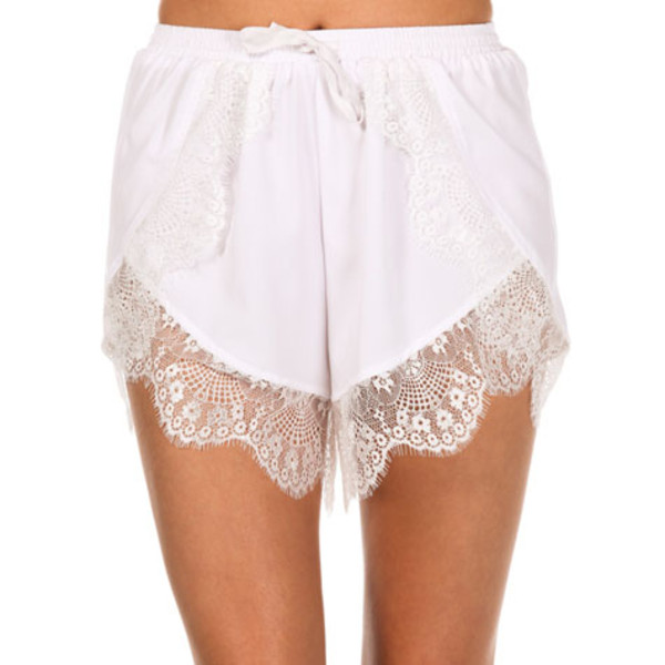 shorts lacetrim girl girl colorful