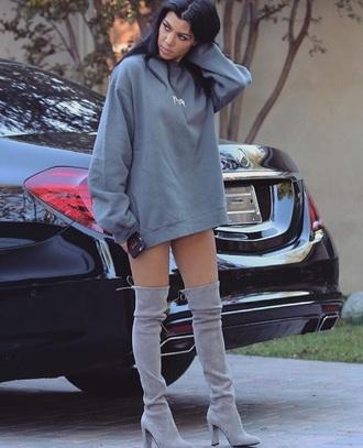 shoes kourtney kardashian over the knee boots yeezy