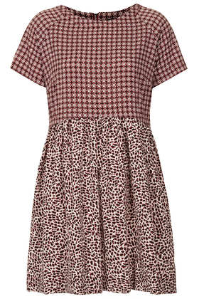 Tall Animal Tile Mix Tunic Dress - Topshop USA