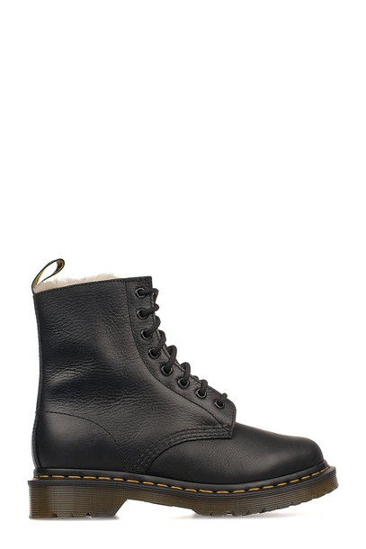 Dr. Martens boot leather black shoes