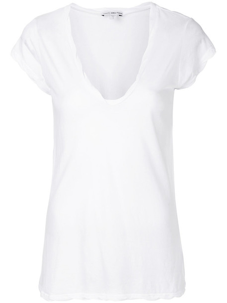 James Perse t-shirt shirt t-shirt loose women soft fit white cotton top