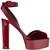 Giuseppe Zanotti Design - Betty platform sandals - women - Leather/Velvet - 38, Red, Leather/Velvet