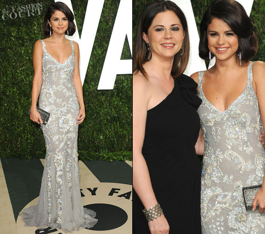 Selena Gomez in Dolce & Gabbana | 2012 Vanity Fair Oscar Party «  The Fashion Court